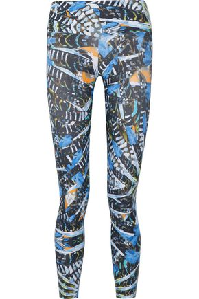 BODYISM I Am Bold printed stretch-jersey leggings