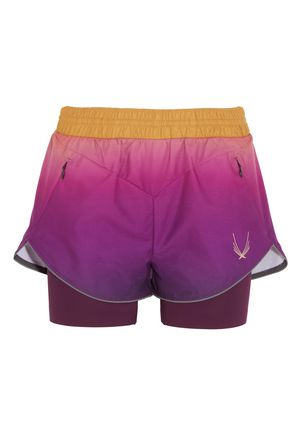 LUCAS HUGH Rebel ombré shell and stretch-jersey shorts
