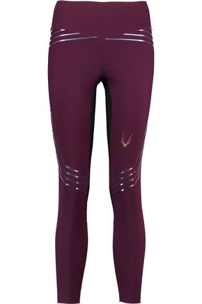 LUCAS HUGH Blackstar iridescent-paneled stretch-jersey leggings