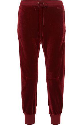 CHLOÉ Drawstring velvet track pants