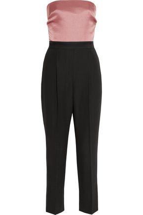 LANVIN Strapless duchesse-silk satin and wool jumpsuit