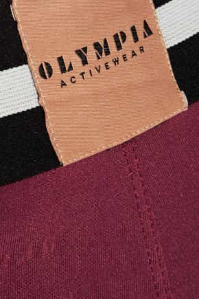 OLYMPIA ACTIVEWEAR Delta stretch-jersey leggings