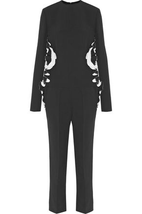 HAIDER ACKERMANN Two-tone ruffled crepe jumpsuit