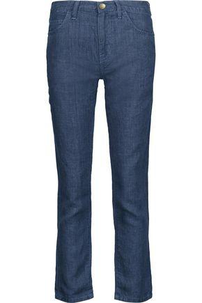 CURRENT/ELLIOTT The Fling boyfriend linen pants