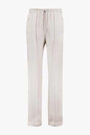 CHLOÉ Silk-satin straight-leg pants