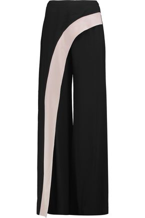 ALEXIS Draped crepe wide-leg pants