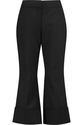 VICTORIA, VICTORIA BECKHAM Cropped wool-blend flared pants