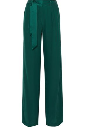 EQUIPMENT Arwen belted matte silk-satin wide-leg pants