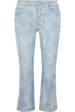 ALEXANDER WANG Cropped distressed leather pants
