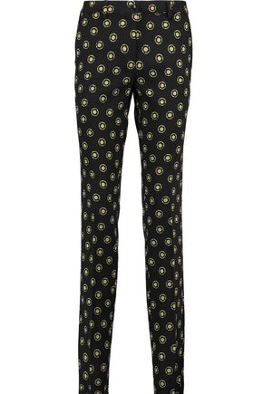 ETRO Wool-jacquard slim-leg pants