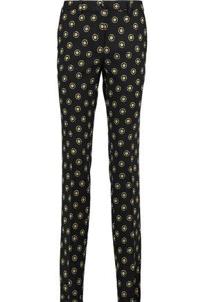 ETRO Wool-jacquard slim-leg pants
