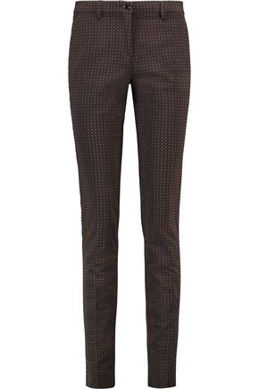 ETRO Cotton-blend jacquard slim-leg pants