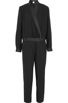 IRIS AND INK Erin crepe tuxedo jumpsuit