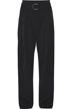 IRO Ilia belted wool-blend twill wide-leg pants