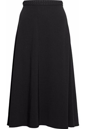 ALEXANDER WANG Wrap-effect lace-up crepe skirt