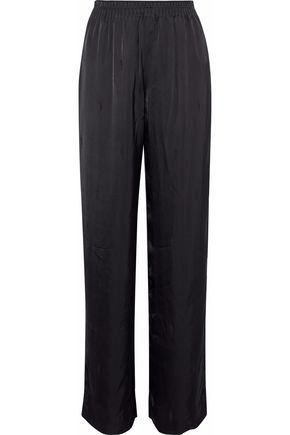 ALEXANDER WANG Satin-jacquard straight-leg pants