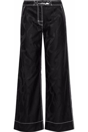 ALEXANDER WANG Printed wool wide-leg pants