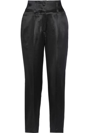 GIVENCHY Cropped silk-satin tapered pants