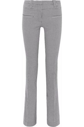 ALTUZARRA Gingham cotton-blend bootcut pants