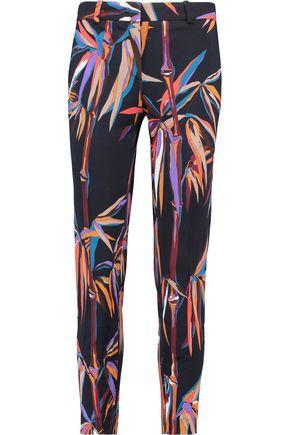 EMILIO PUCCI Printed crepe slim-leg pants