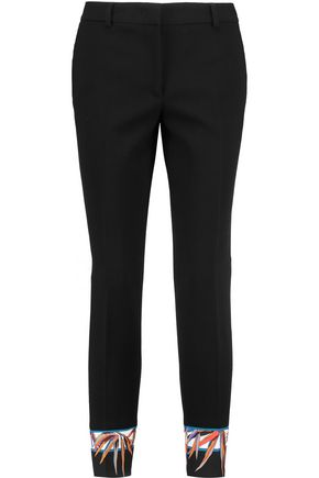 EMILIO PUCCI Printed wool-blend crepe straight-leg pants
