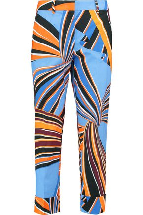 EMILIO PUCCI Printed cotton-blend slim-leg pants