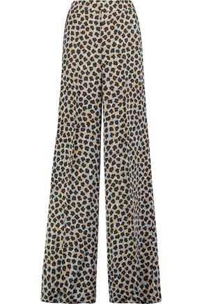 ETRO Printed satin wide-leg pants