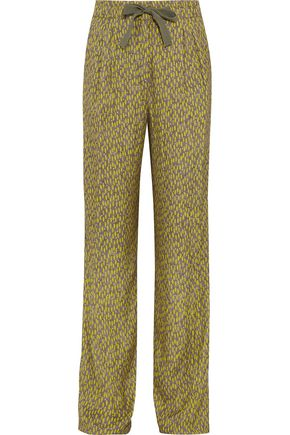 ETRO Printed faille wide-leg pants