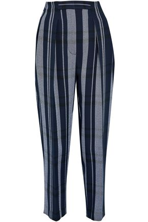 3.1 PHILLIP LIM Pleated striped crepe tapered pants