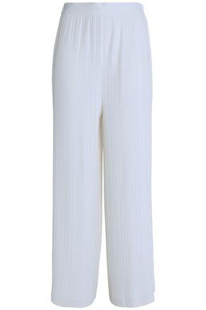 HELMUT LANG high-rise wide-leg plisse pants