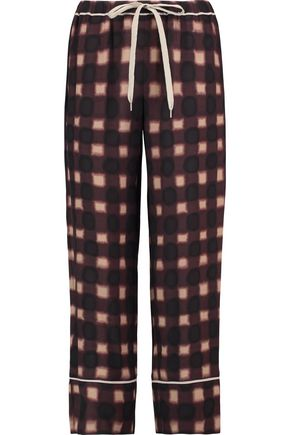 MARNI Printed silk straight-leg pants