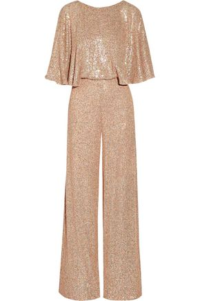 TEMPERLEY LONDON Stardust sequined chiffon jumpsuit