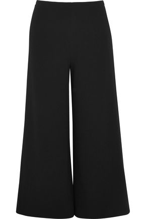 CO Cropped crepe wide-leg pants