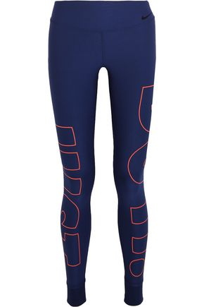 NIKE Power Legend printed Dri-FIT stretch-jersey leggings