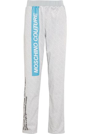 MOSCHINO COUTURE Printed jersey track pants