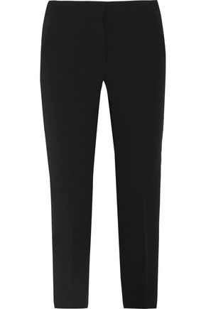 MAX MARA Alpe cropped stretch-wool crepe slim-leg pants