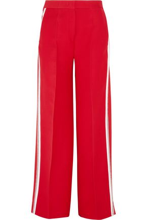 FENDI Striped wool and silk-blend wide-leg pants