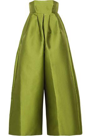 MERCHANT ARCHIVE Strapless duchesse-satin jumpsuit
