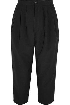 COMME DES GARÇONS COMME DES GARÇONS Cropped pleated wool tapered pants