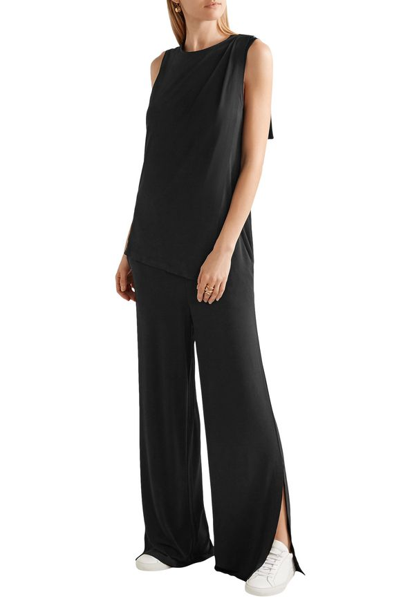 Nojo layered stretch-crepe jumpsuit | BY MALENE BIRGER | Sale up to 70% off  | THE OUTNET