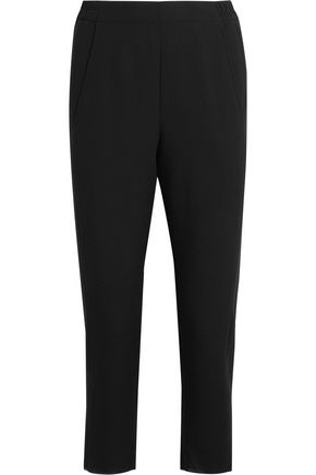 ANN DEMEULEMEESTER Cropped wool straight-leg pants