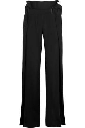 ANN DEMEULEMEESTER Belted wool-twill wide-leg pants