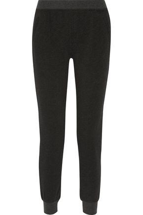 ATM French cotton-blend terry slim-leg pants