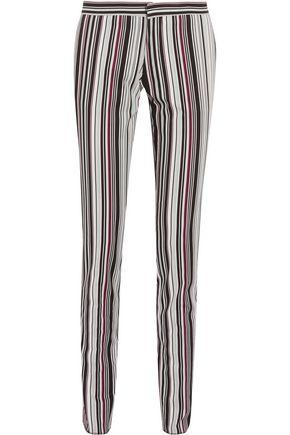 GIAMBATTISTA VALLI Striped cotton-blend twill slim-leg pants