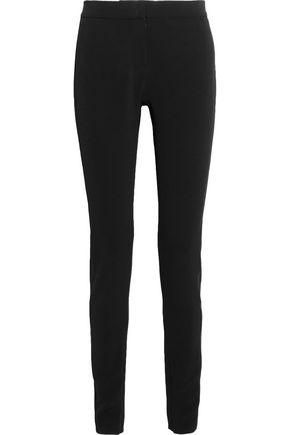 TOM FORD Satin-paneled stretch-crepe slim-leg pants