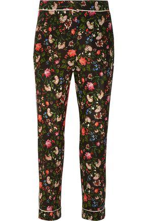 ERDEM Giulia floral-print silk crepe de chine slim-leg pants