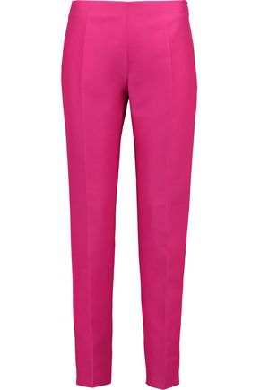 ANTONIO BERARDI Cotton and silk-blend slim-leg pants