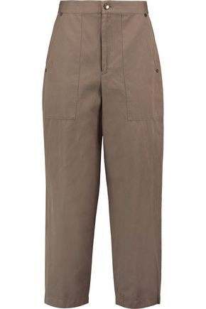 HELMUT LANG Cotton and linen-blend straight-leg pants