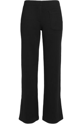 HELMUT LANG Wool-piqué wide-leg pants
