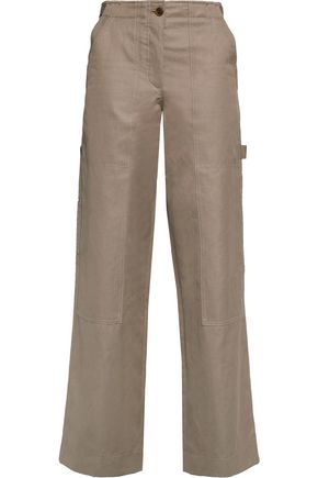 HELMUT LANG Cotton-blend twill wide-leg pants